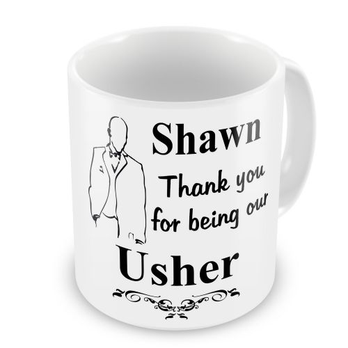 Personalised Wedding Usher Any Name Novelty Gift Mug